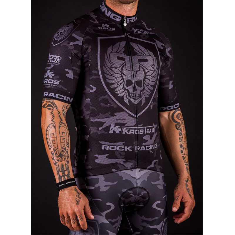 2018 Camouflage Pro Team Rock Racing Bike Jersey Bicicleta Ropa Maillot Ciclismo Breathable MTB Cycling Clothing: Size S-6XL