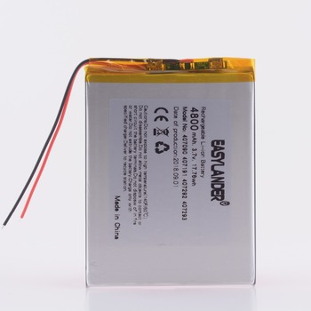 407191 3.7V 3.8V 4800mAh Li-Polymer Battery with Protection Board For Tablet PC Irbis Cube U25GT dual-core version 407093 image