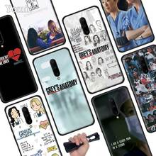 Greys Anatomy Black Soft Case for Oneplus 7 Pro 7 6T 6 Silicone TPU Phone Cases Cover Coque Shell