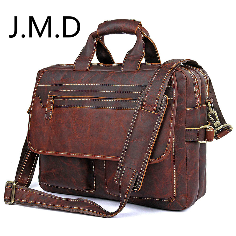 J.M.D LOW Price Rare Genuine Cow Leather Mens Briefcase Laptop Messenger Bag Handbag  7085J.M.D LOW Price Rare Genuine Cow Leather Mens Briefcase Laptop Messenger Bag Handbag  7085