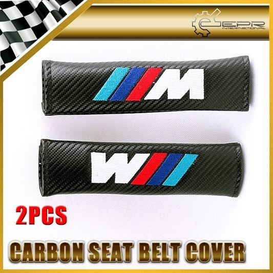 Автомобиль Для Укладки 2 шт./пара Для BMW///M power Carbon Ремень безопасности Обложка Универсальный JDM