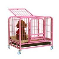 LK1611 best животным питомника для собаки кошки двойные двери Pet клетка с универсальные колеса и лоток Сгустите металлической дом любимчика разм