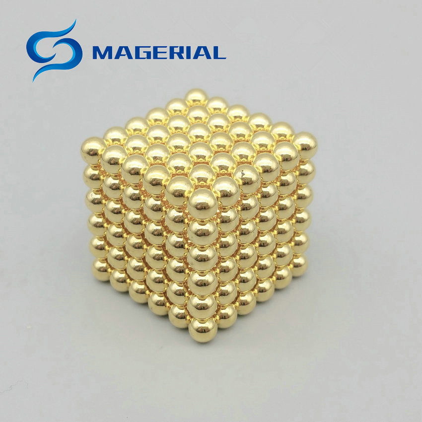 1 set/216pcs  Diameter 4 mm Golden Magic Bucky balls Neodymium Toy Cubes Magic Puzzles Toy Sphere Magnets Magnetic Bucky Balls qs 3mm216a diy 3mm round neodymium magnets golden 216 pcs page 9