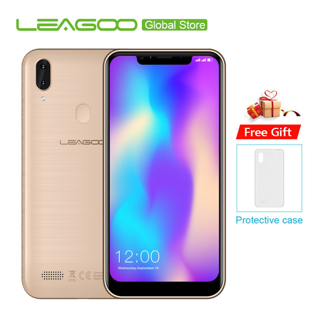 "LEAGOO M11 6.18"" Mobile Phone 2GB RAM 16GB ROM 4000mAh Android 8.1 MTK6739 Quad Core Fingerprint LTE 4G Dual Smartphone"