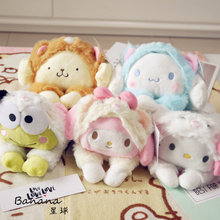 candice guo! cute plush toy Gudetama melody Cinnamoroll Pom Pom Purin dog frog tuned to cat soft doll birthday Christmas gift 1p