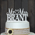 Custom wedding cake topper, Personalized Wedding Cake Topper, Acrylic silver glitter Wedding Party Decoration, 14 colors