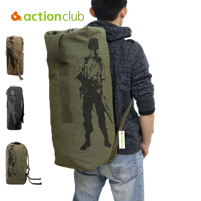 a25c32cab3 Actionclub Outdoor Travel Luggage Army Bag Canvas Hiking Backpack Camping Tactical  Rucksack Men Military Backpack mochila