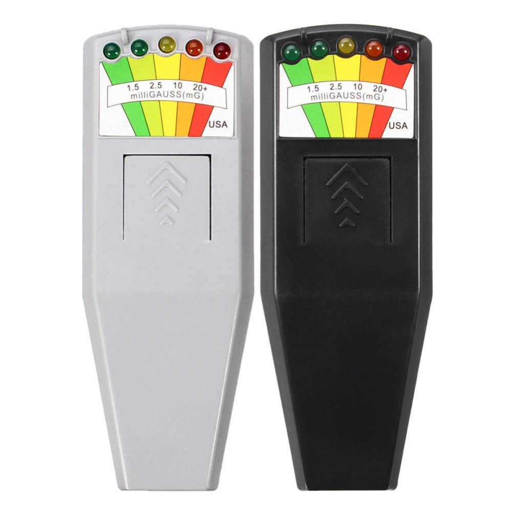 KII K2 Electromagnetic Field EMF Gauss Meter Ghost Hunting Detector Portable EMF Magnetic Field Detector 5 LED Gauss Meter