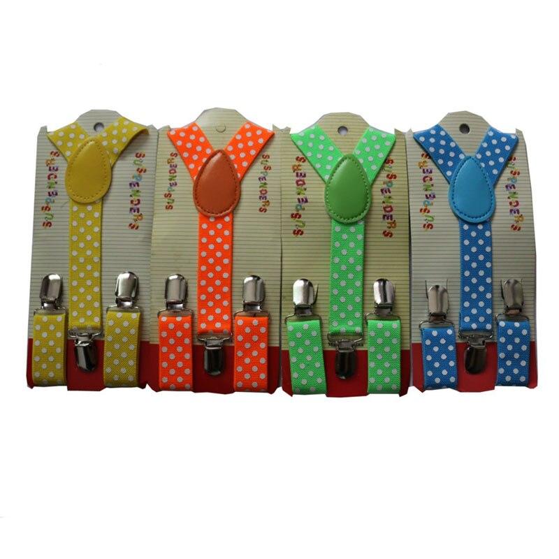 ПР новый Для детей мальчик Обувь для девочек От 1 до 8 лет белый горошек печати Подтяжки для женщин Регулируемый эластичный Свадебные PI039