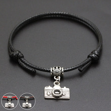 Digital Camera Pendant Red Thread String Bracelet Lucky Blac