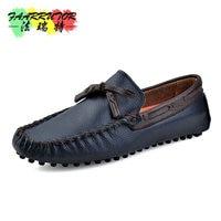 2017 Summer Men Slip-on Casual Moccasins Genuine Loafers Men Breathable Shoe Boat Moc Toe Slip-on Driver Shoe Flat Roll Up Shoes