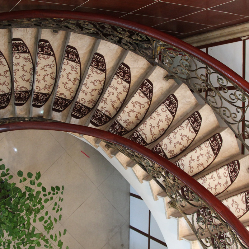 KEYAMA New European Pastoral Style Acrylic Floral Carpet Stair Treads Mats  Stair Area Rugs Home Staircase Decorative Carpets In Carpet From Home U0026  Garden On ...