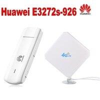 4G LTE USB Dongle SIM Card Modem Huawei E3272+Model ZTE 4G 35dBi Signal Amplifier Antenna CRC9