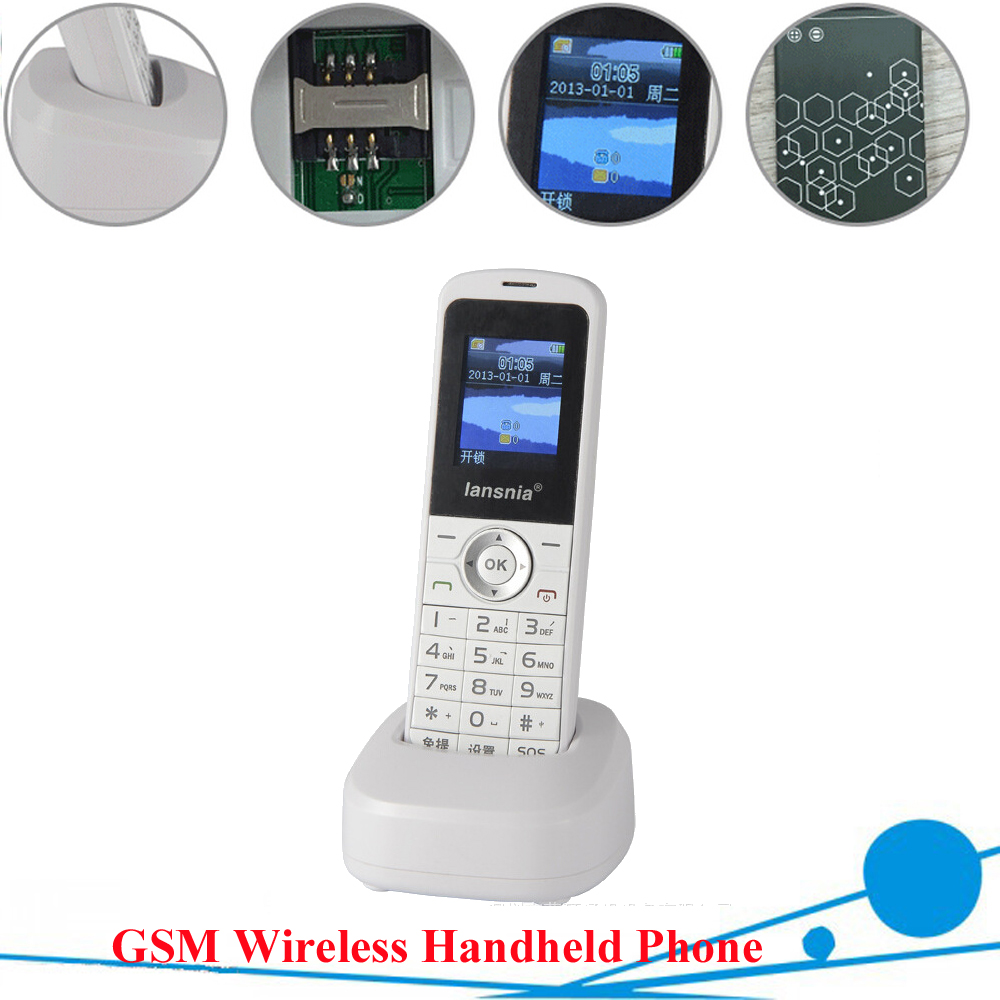 ФОТО GSM wireless handset quad band 850/900/1800/1900MHZ wireless handset ,GSM Phone for office family mine remote mountain use