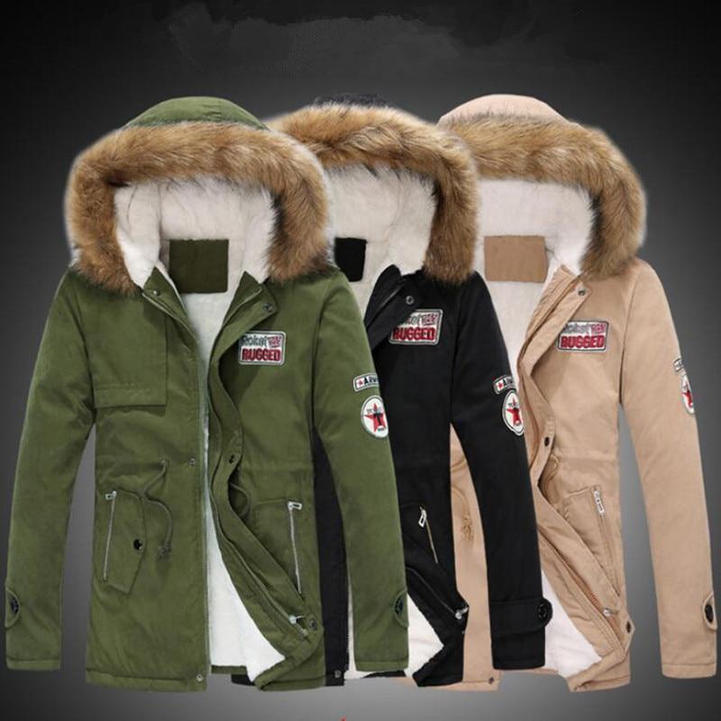 Parka hommes manteaux Veste d'hiver hommes Slim épaissir fourrure vêtements à capuche chaud manteau Top marque vêtements décontracté hommes manteau Veste Homme hauts