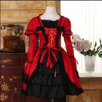 2017 New Fashion Lolita dress COSPLAY Gothic dress Long sleeve Dresses for women