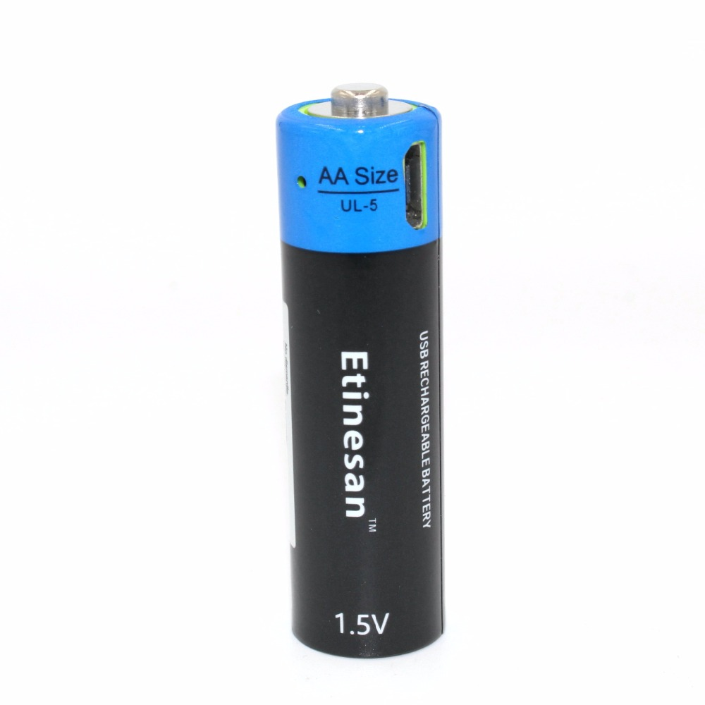 Brand NEW ETINESAN battery ! 1pcs/lot 1.5V AA 1875mwh li-polymer rechargeable lithium battery, camera ,toys ect battery