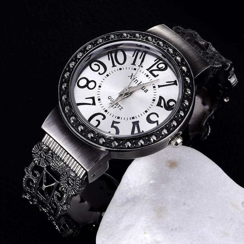 Women Bracelet Watch Vintage Quartz Womens Wristwatch Unique Retro Female Ladies Bangle Watches Elegant Masculino Relojes Clock