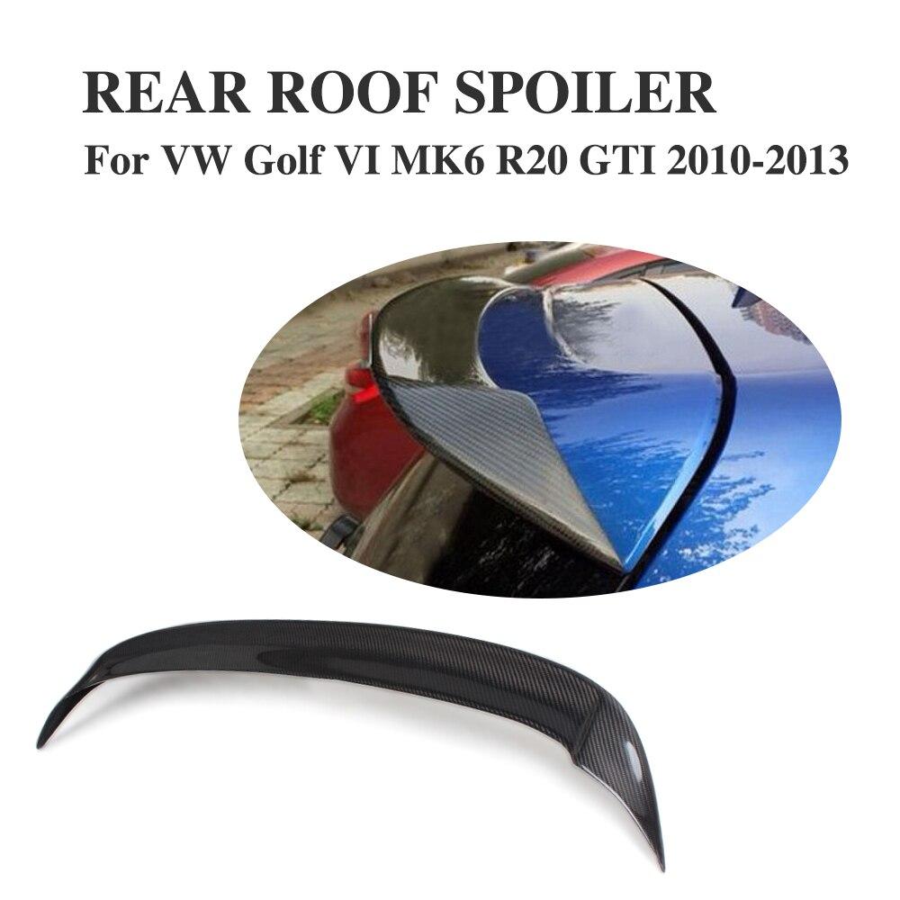 Lèvre d'aile de becquet de toit arrière en Fiber de carbone pour Volkswagen VW Golf 6 VI MK6 R20 GTI 2010-2013 pièces de réglage de voiture