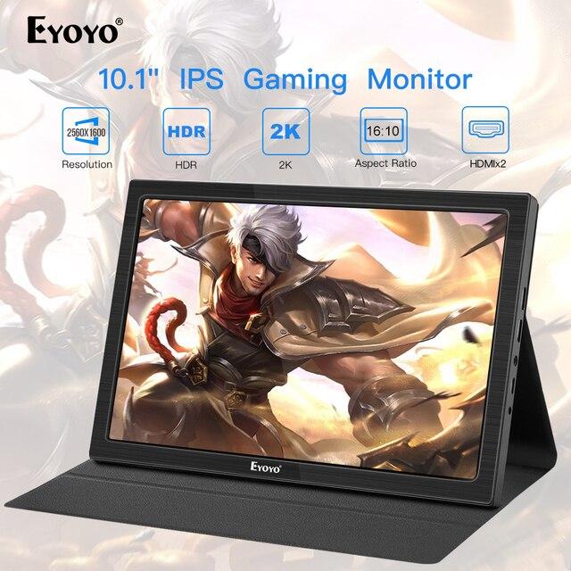 "10"" inch Portable Monitor 2560x1600 Mini HDMI LCD Display for PS4 Xbox360 LED moniteur computer scherm laptop raspberry monitor"
