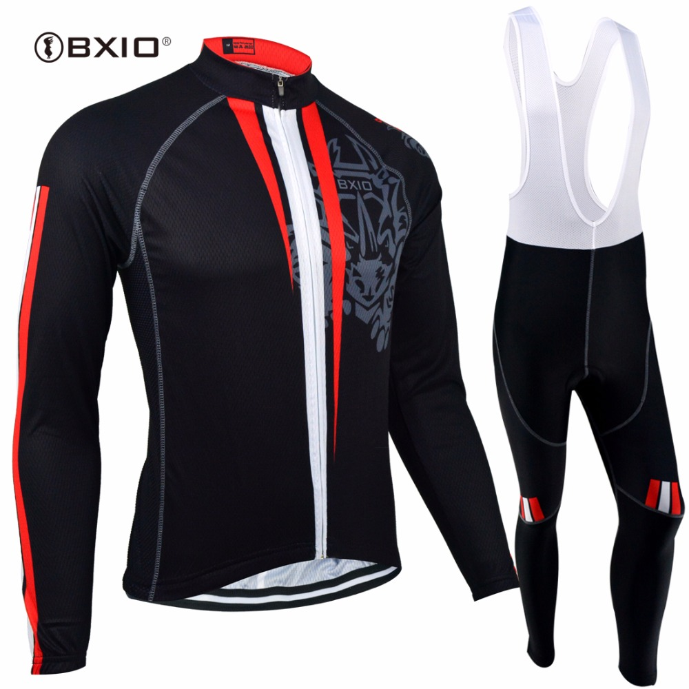 BXIO Winter Thermal Fleece Cycling Jersey Top Rate Seamless Stitching Long Sleeves Bicycle Clothing 5D Pad Maillot Ciclismo 130 bxio winter thermal fleece cycling jersey sets pro team long sleeve bicycle bike clothing cycling pantalones ropa ciclismo 111