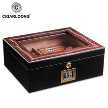 2019 New Arrival Two-parts Large Capacity Cigar Humidor Cedar Wood Case CLA-A0003