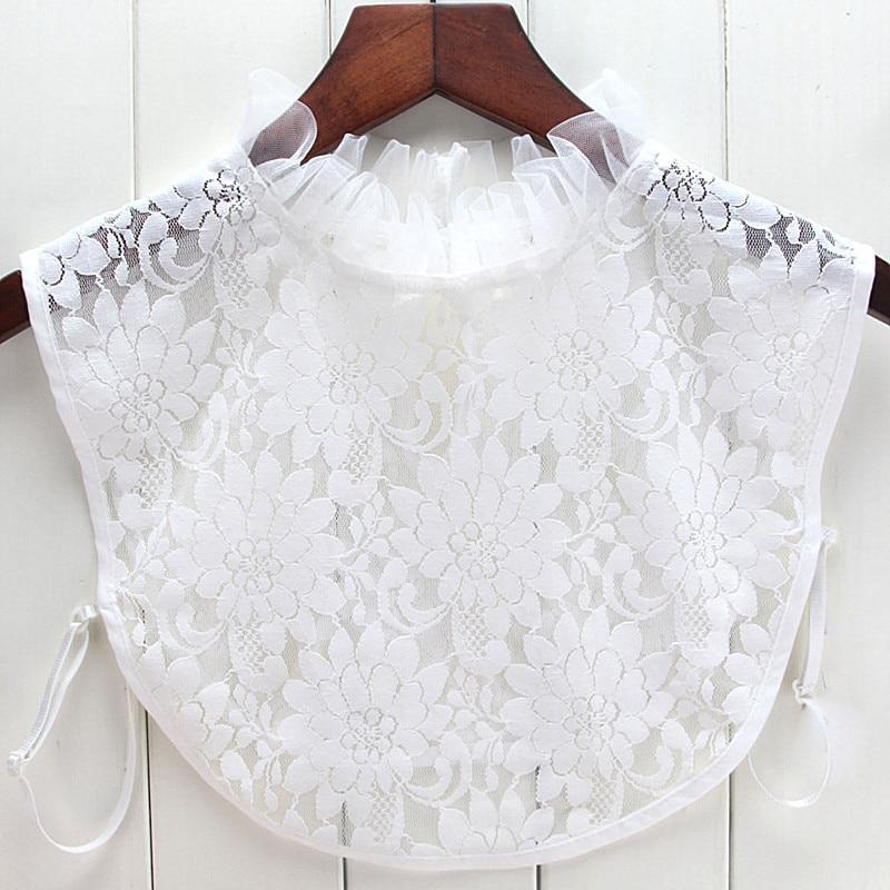 Lotus Leaf Ear Mesh Base Fake Collar Detachable Lapel Shirt Fake False Collar Lapel Blouse Top Women Clothes Accessories