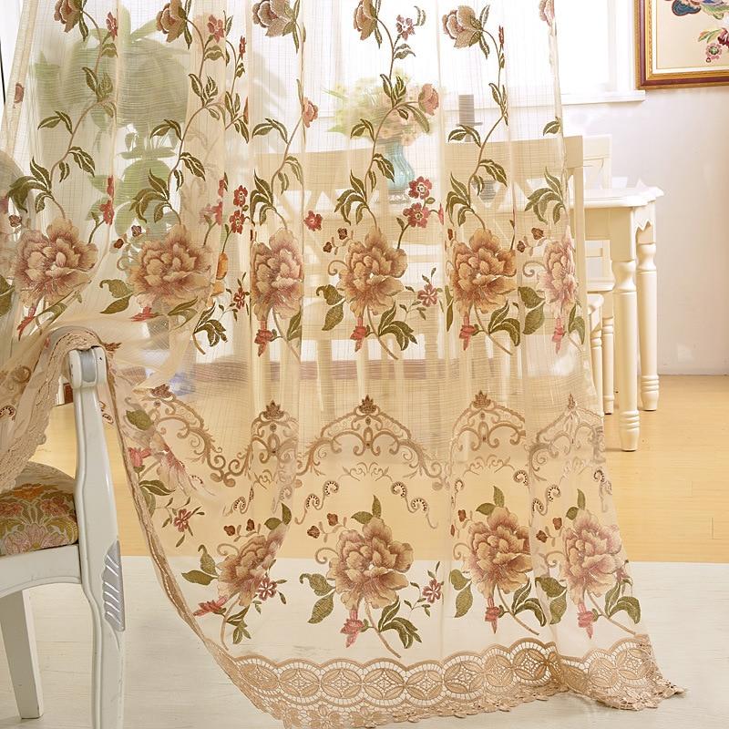 Op maat gemaakte Europese stijl luxe beige decoratieve borduurwerk - Thuis textiel - Foto 2