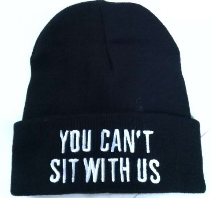 2017  Winter Hats YOU CAN'T SIT WITH US  LUCKY  Women's Knitted Cap For Women Men Hat Female Bonnet Gorro Skullies Beanies study guide to accompany managerial economics