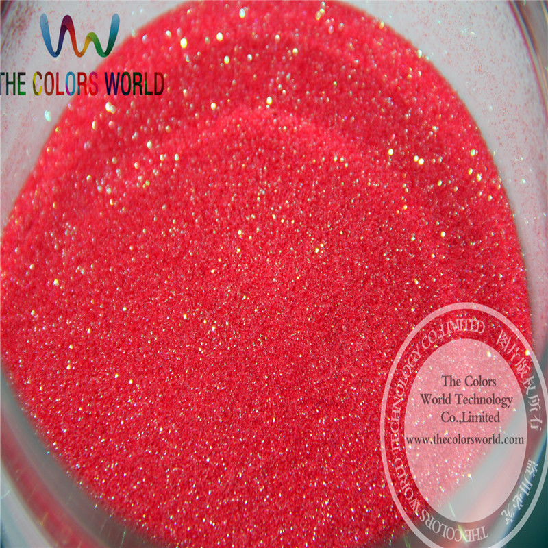 TCH1696 Wholesale 0.1mm 004 Size Shinning Rainbow Red  Iridescent  Color Fine Glitter Powder