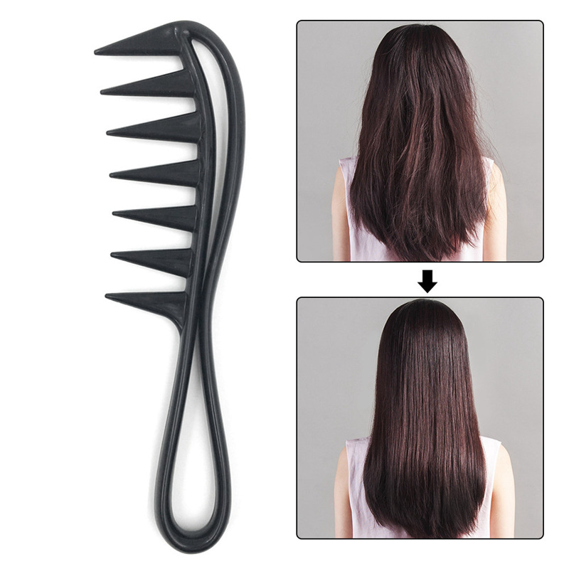 Wide Tooth Shark Plastic Comb Detangler Curly Hair Salon Hairdressing Comb Massage For Hair Styling Tool