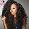 Kinky Curly Wig Lace Front Human Hair Wigs 250% Density Full Lace Human Hair Wigs For Black Women Brazilian Full Lace Front Wig