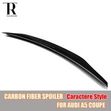 A5 Coupe C Stil Karbon Fiber Arka Kanat Spoiler Audi A5 için 2 KAPı Sadece 2010 2011 2012 2013 2014 2015 2016 Caractere Styling