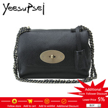YeeSupSei Mini Mujeres Messenger Bag Bronce Lock Key Bolso de hombro de mujer Lady Small Clutche Chain Mujeres Bolso de hombro Crossbody Bag Flap Bag