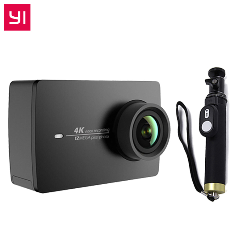 YI 4K Action Camera One Selfistick Ambarella A9SE ARM 12MP CMOS 2 19 155 Degree EIS