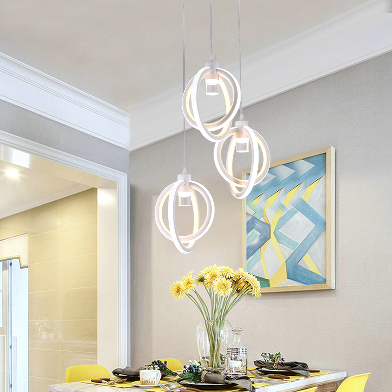 Modern led Chandelier for Kitchen Dining Room Living Room Suspension luminaire Hanging Bedroom Chandeliers Fixtures