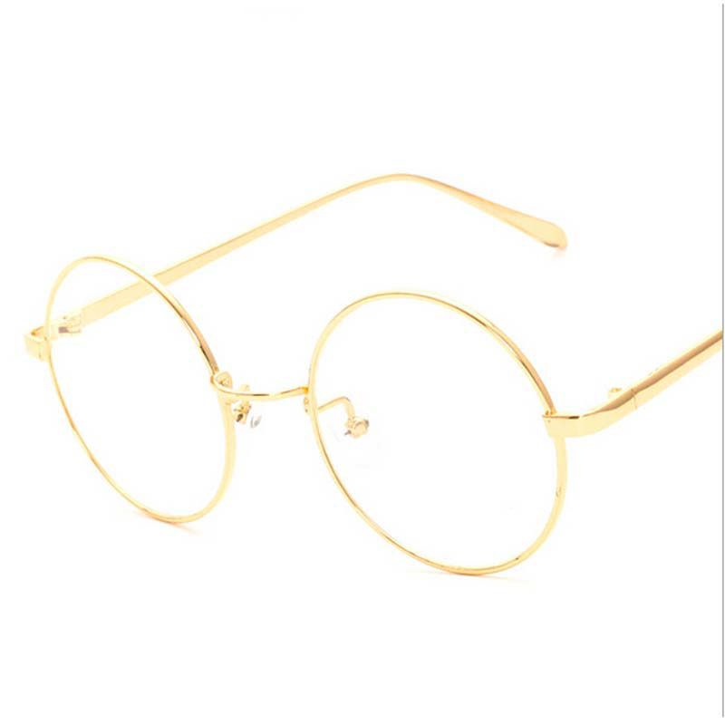 Peekaboo NEW korean retro full rim gold eyeglass frame nerd thin METAL PREPPY STYLE vintage spectacles round computer UNISEX