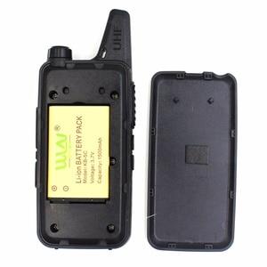 Image 4 - 10PCS custodia in pelle WLN di KD C1 KDC1 RT22 16 Canali Talkie Ham Radio UHF 400 470 MHz MINI handheld Ricetrasmettitore A due Vie Radio Communicator + Cavo
