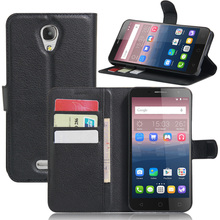 Pop 4 Vintage Wallet Leather Phone Case For Alcatel Pop 4+ / Pop 4 Plus Flip Cover Luxury Case Coque With Stand + 2 Card Slots