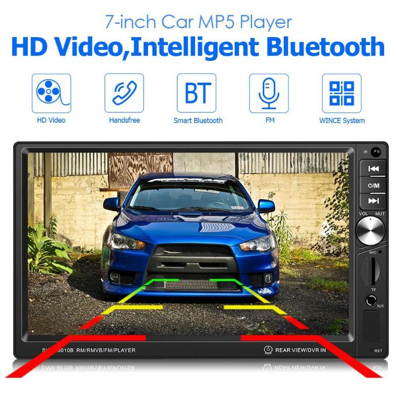 T8010B In Dash Bluetooth autoradio AUX USB FM Radio unité principale récepteur numérique résolution de l'écran 1024x600 taille du panneau 178x101mm