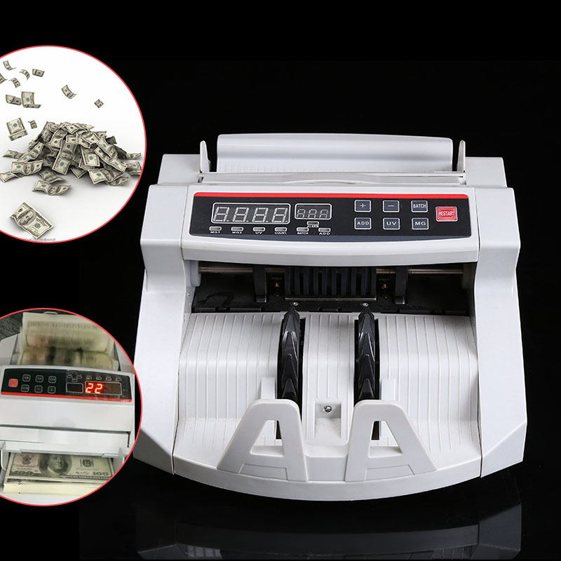 Currency Counter 110V / 220V Ticket Counter For Multi-currency Such As EURO US DOLLAR  Customizable Money Detector Cash Counter