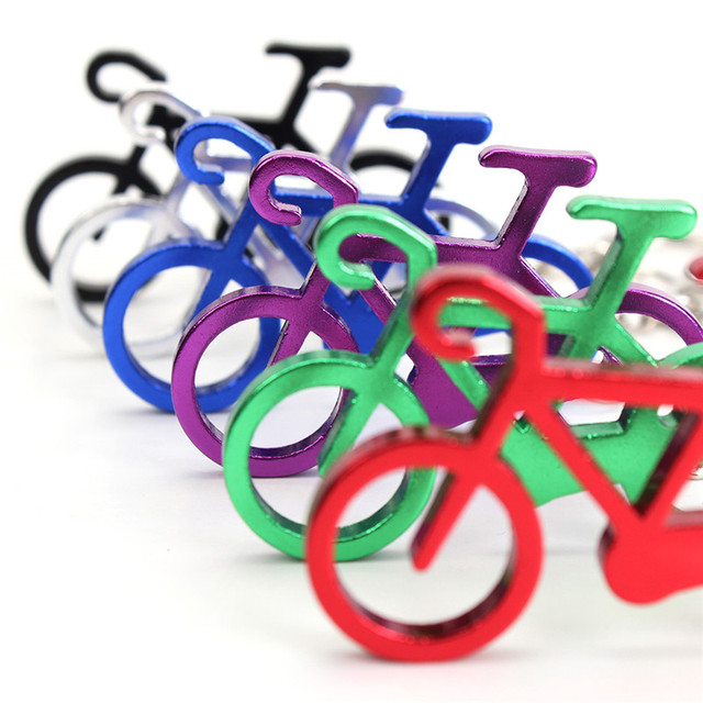 Outdoor EDC Multi Bike Bicycle Keychain Keyring Bottle Wine Beer Opener Tool Muilti Colors