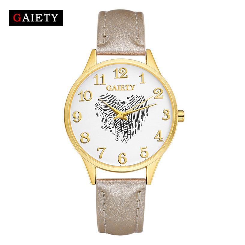 Gaiety Heißer Verkauf Leder Band Analog Quarz Runde Armbanduhr Armband Uhr Mode Uhren Orologio Drop Verschiffen #0222 Seien Sie Im Design Neu Uhren