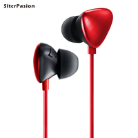 New Fashion Youth Universal Bass Phone Earphone With Mic Control Red Black Stereo Earbuds Fone De