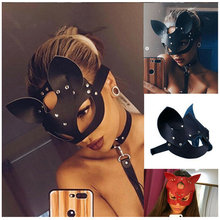 Women Sexy Mask Half Eyes Cosplay Face Cat Leather Mask Cosplay Adult Play Game Mask Batman Masquerade Ball Carnival Fancy masks