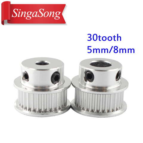 1pcs New GT2 Timing Pulley 30 36 40 60 Tooth Wheel Bore 5mm 8mm Aluminum Gear Teeth Width 6mm Parts For Reprap 3D Printers Part Lahore