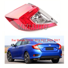 MIZIAUTO Tail Light For Honda CIVIC FC1 FC7 2016 2017 33550-TET-H01 / 33500-TET-H01 Rear Brake Warning taillight