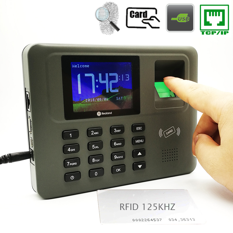 Tcp/ip Biometic Attendance-System Time-Clock Fingerprint Device Employee-Recorder With Card Reader