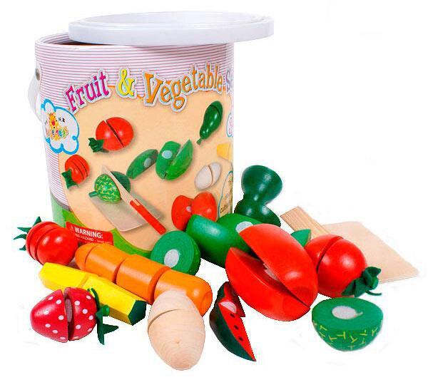 B0102 Hot Koop Kinderen Houten Speelgoed Kind Fruit Keuken Speelgoed Speeltoestel Kleuterschool Speelgoed In Doos 1 Set
