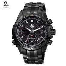 CAINO NEW watches men Top Brand fashion Casual watch Quartz Wristwatches male relogio masculino men Full Steel